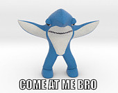 Come at me Bro Left shark